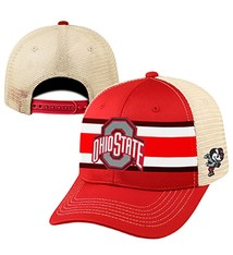 "Top of the World Ohio State University ""Audible 1"" Helmet Stripe Trucker Hat"