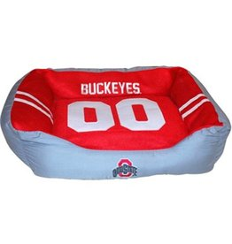Ohio State Buckeyes Jersey Dog Bed (Large)