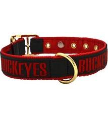 Ohio State University Leather Pet Collar