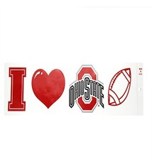 "Ohio State University ""I Heart Ohio State Football"" Bumper Sticker"