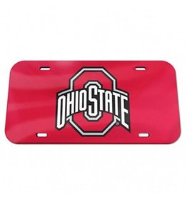 Wincraft Ohio State University Crystal Decorative License Plate