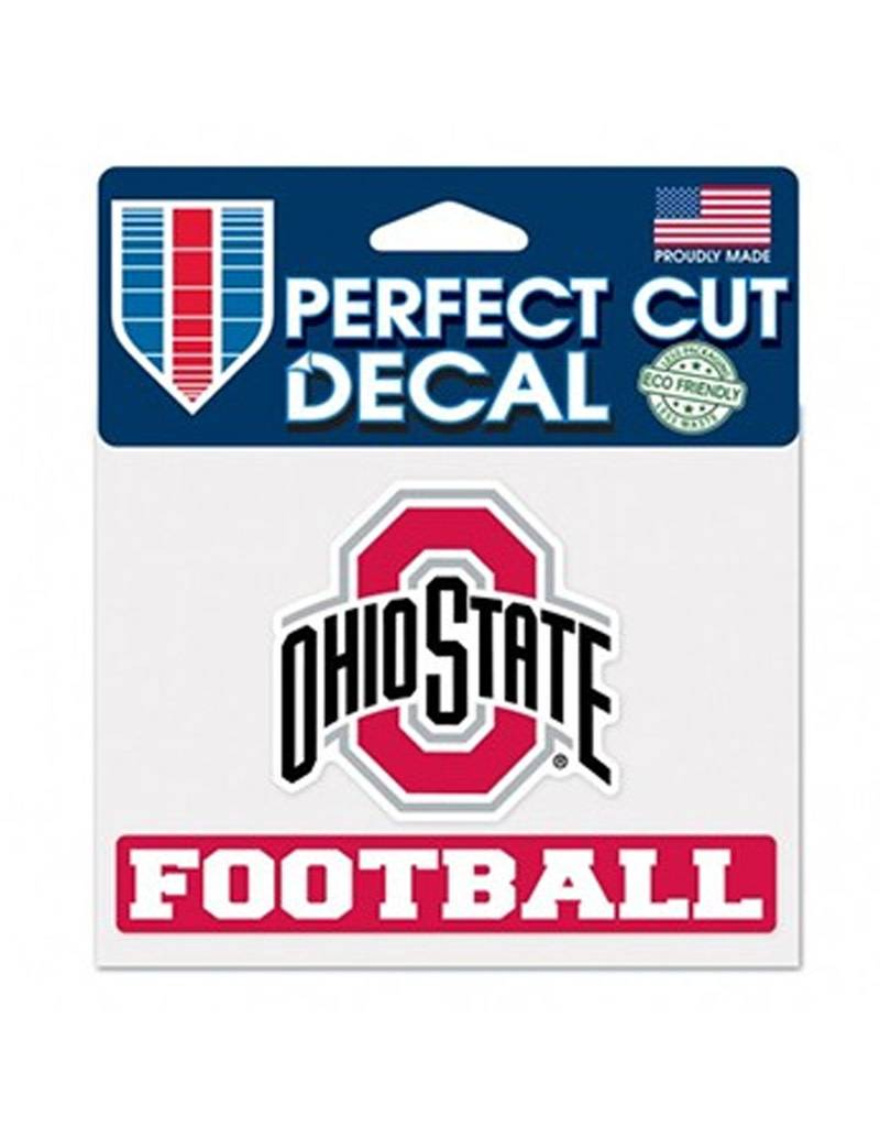 "Wincraft Ohio State University 4.5"" x 5.75"" Football Athletic O Decal"