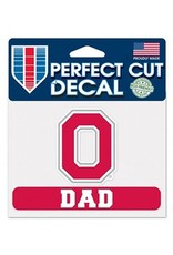 "Wincraft Ohio State University 4.5"" x 5.75"" Block O Dad Decal"