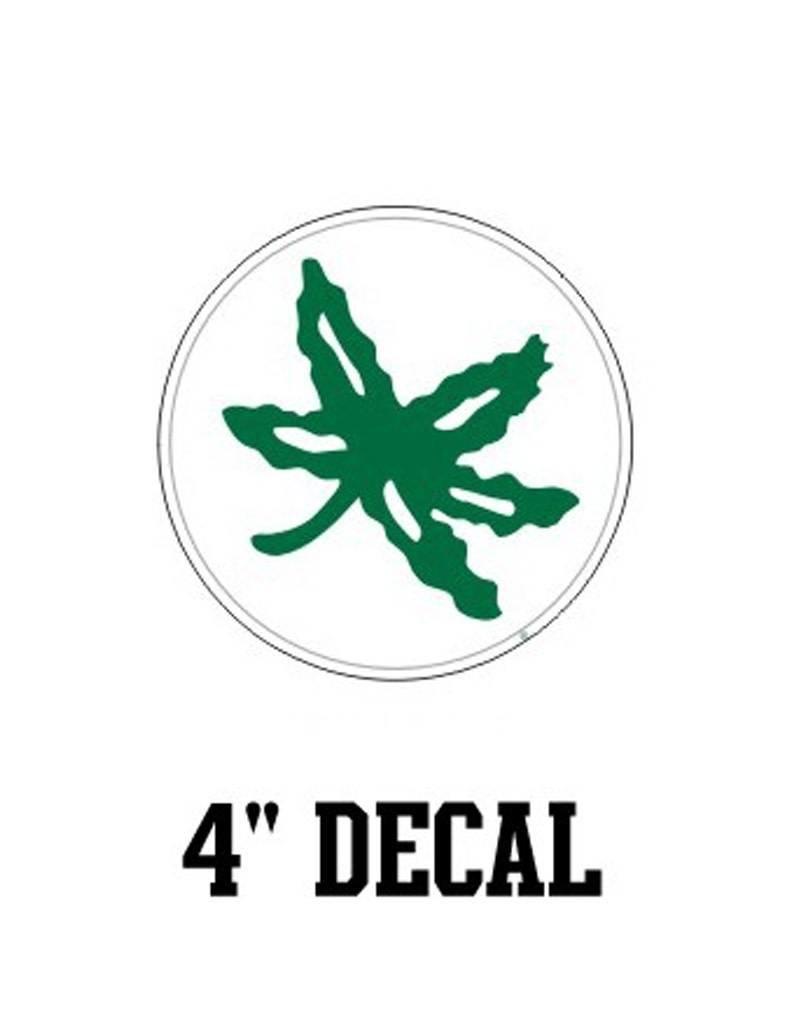 "Ohio State University 4"" Reward Leaf Decal"