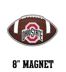 "Ohio State University 8"" Football Magnet"