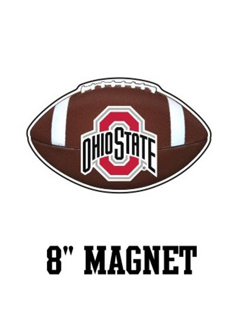 "Ohio State University 8"" Football Magnet"