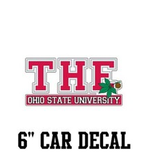 """The Ohio State University 6"""" Car Decal"""