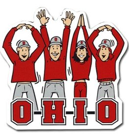 Ohio State University Letters People Auto Magnet