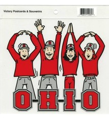 Ohio State O-H-I-O Letters & People Static Cling Decal