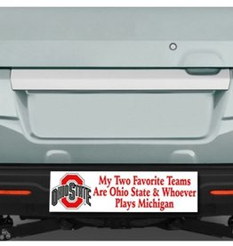 My Two Favorite Teams Bumper Sticker