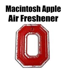 Back The Lane Creations Ohio State University Macintosh Apple Block O Air Freshener