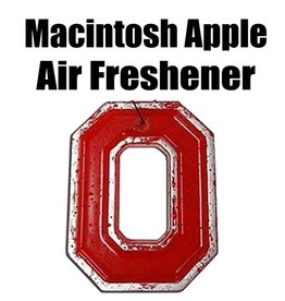 Ohio State University Macintosh Apple Block O Air Freshener