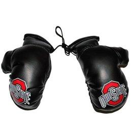 Ohio State University Black Athletic O Mini Boxing Gloves