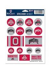 Wincraft Ohio State University Sticker Sheet