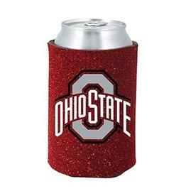 Ohio State University Glitter Can Koozie