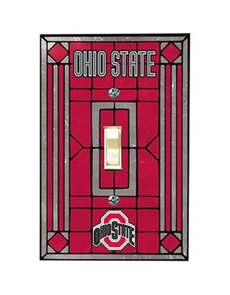 Ohio State University Art Glass Switchplate Cover
