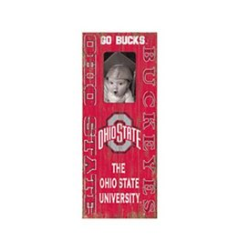 Ohio State University Distressed Picture Frame