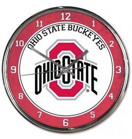 Wincraft Ohio State University Buckeyes Chrome Clock