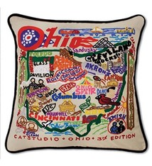 Catstudio Ohio Hand-Embroidered Pillow