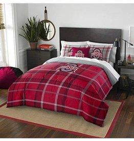 Ohio State University FULL Plaid Comforter Set