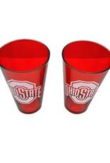 Ohio State University 2 Pack 16 oz Pint Glass Set