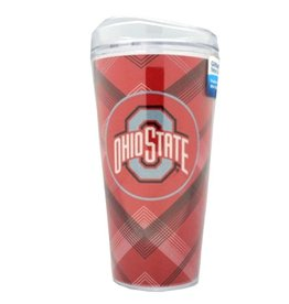 Ohio State University Plaid GlitterMax Tumbler