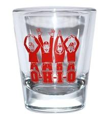 Ohio State University O-H-I-O Shot Glass