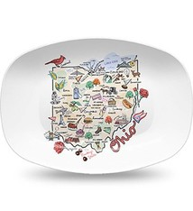 State of Ohio Themed Polymer Platter