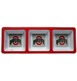 Ohio State University Divided Snack Tray