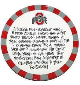 Ohio State Buckeyes Define Fan Ceramic Plate