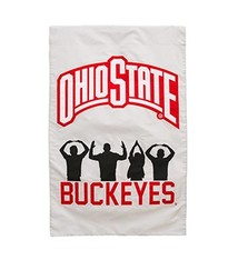 Ohio State University O-H-I-O People Silhouette Double-Sided Applique Flag