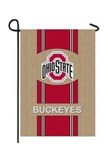 Ohio State University Burlap Flag