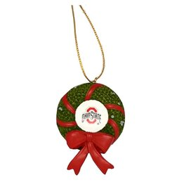 Ohio State University Wreath Ornament