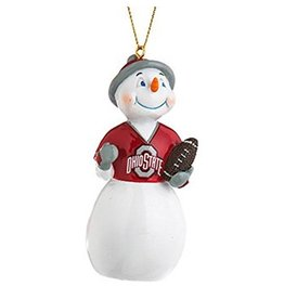 Ohio State University Jack Frost Snowman Ornament