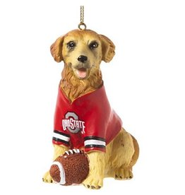 Ohio State University Golden Retriever Ornament