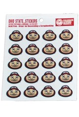 Ohio State University Mascot Brutus Face Logo Sticker Set