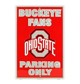 Ohio State University Fan Parking Only Sign