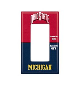 Ohio State University Rivalry Single Rocker Light Switch Cover