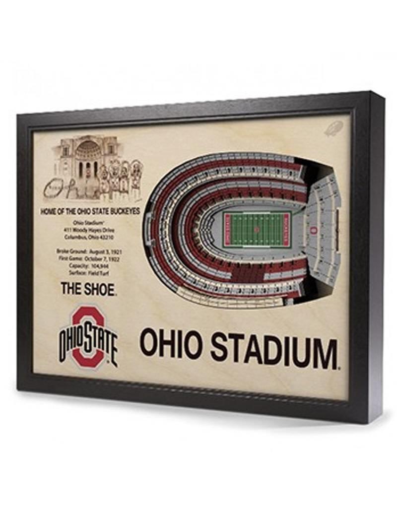 Ohio State University Stadium View 3D Wall Art
