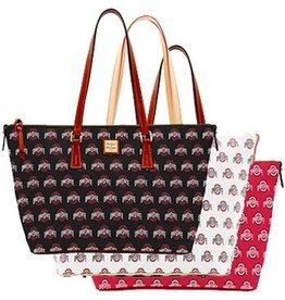 Dooney & Bourke Ohio State University Zip Top Shopper