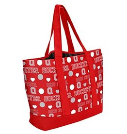 Forever Collectibles Ohio State University Buckeyes Love Tote Bag