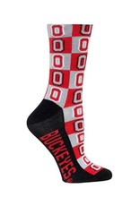 Ohio State University Block O Checkered Sock