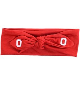 Ohio State Buckeyes Knotted Cotton Bow Headband