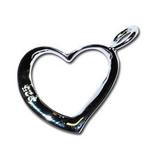 Sparkle Life Silver Open Heart Pendent