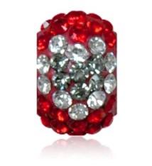 Sparkle Life Bright Red & Silver Heart Sparklie