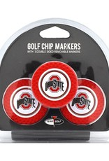 Ohio State University 3 Pack Poker Chip Golf Ball Markers
