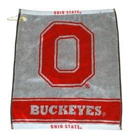 Ohio State University Team Golf Deluxe Woven Golf Towel