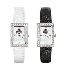 Ohio State University Allure Leather Watch