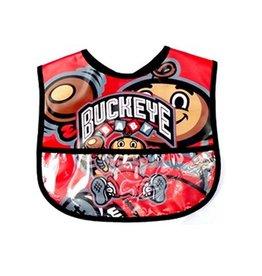 Ohio State University Buckeye Baby Plastic Bib