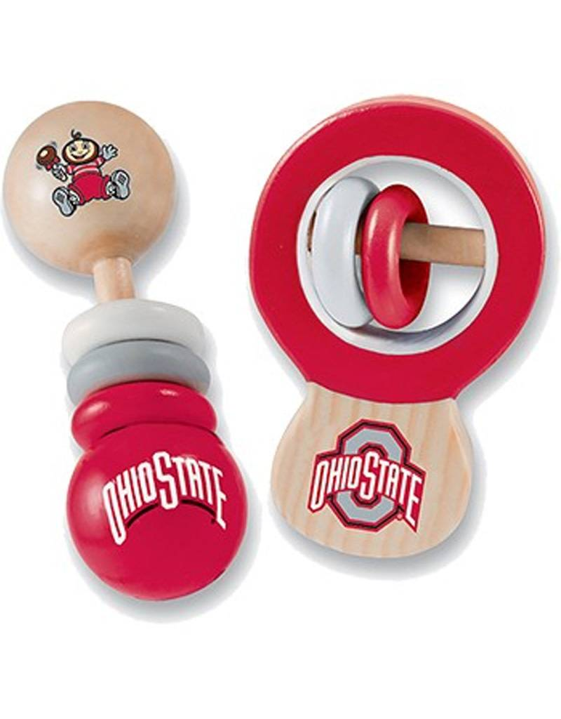 Ohio State University Real Wood Baby Rattles